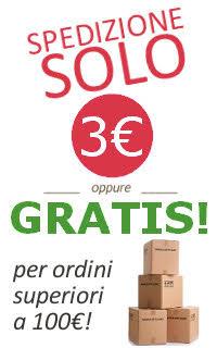 Spedizione gratuita con più di 100 euro