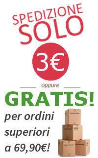 Spedizione gratuita con più di 69 euro