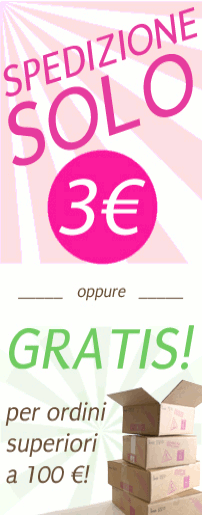 Spedizione gratuita con più di 100 euro